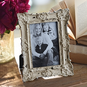 Ornate Vintage Ivory Picture Frame, 4x6