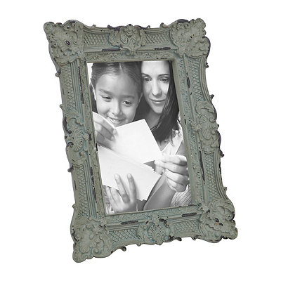 Ornate Blue Vintage Picture Frame, 4x6