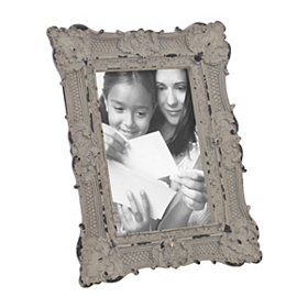 Ornate Gray Vintage Picture Frame, 4x6
