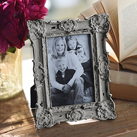 Ornate Vintage Gray Picture Frame, 4x6