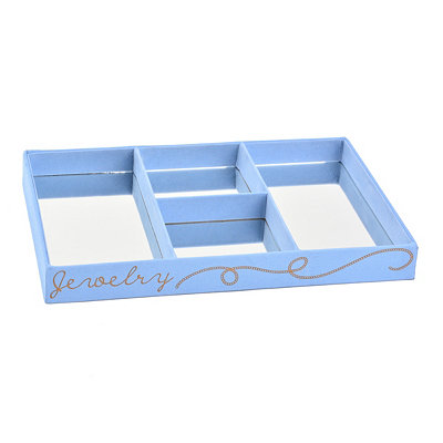 Blue Mirrored Jewelry Tray