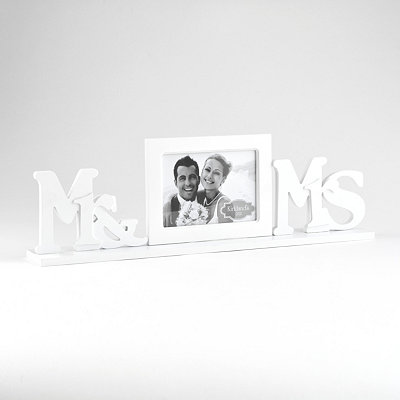Mr & Mrs White Picture Frame, 5x7