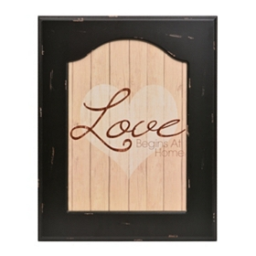 Love Begins at Home Framed Plaque