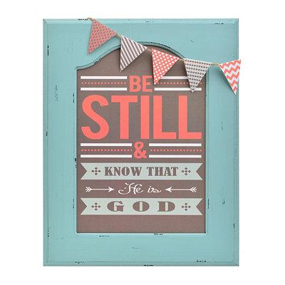 Be Still Framed Plaque