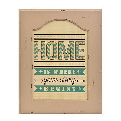 Home Framed Plaque