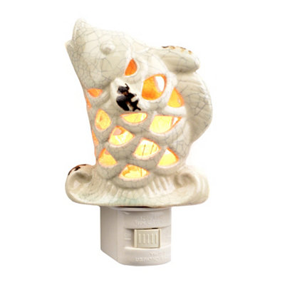 Cream Jumping Fish Night Light
