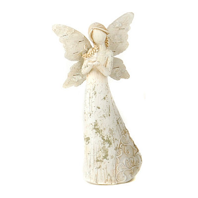 Smiling Angel Wings Statue