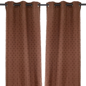 Chocolate Mosaic Curtain Panel Set, 84 in.