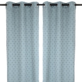 Blue Mosaic Curtain Panel Set, 84 in.