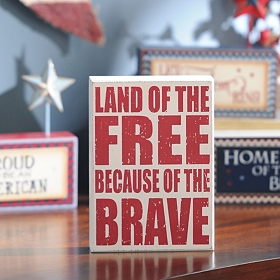 Land of the Free Wall Plaque