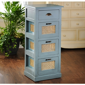Arctic Blue 4-Drawer Storage Chest
