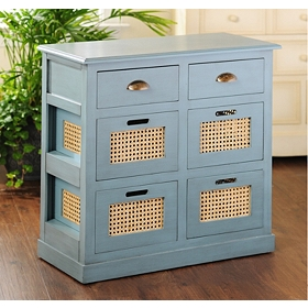 Arctic Blue 6-Drawer Storage Chest