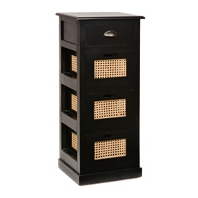 Black 4-Drawer Storage Chest