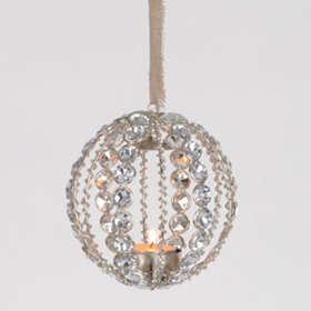 Gem Ball Hanging Candle Holder