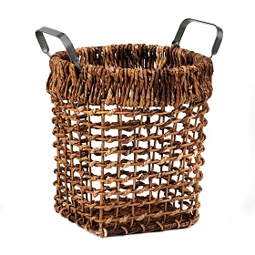Maize Basket with Metal Handles, Small