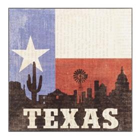 Texas Silhouette Wall Plaque