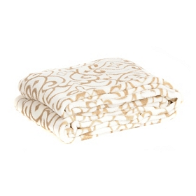 Cream Swirl Oversized Throw Blanket