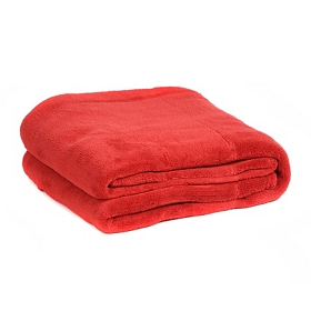 Red Oversized Throw Blanket