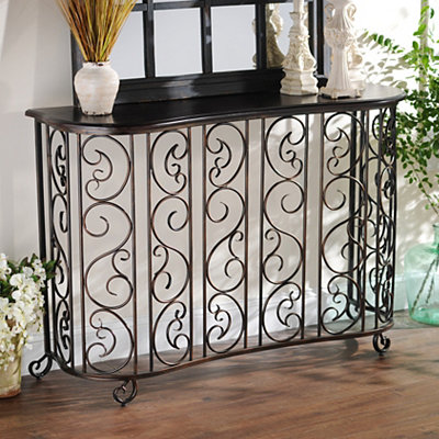 Serpentine Scroll Console Table