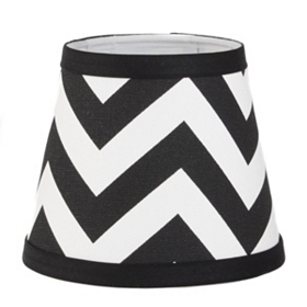 Black and White Chevron Chandelier Shade