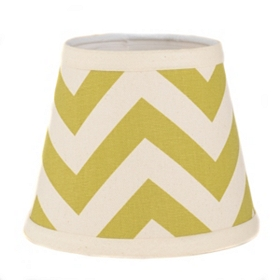 Green and Cream Chevron Chandelier Shade