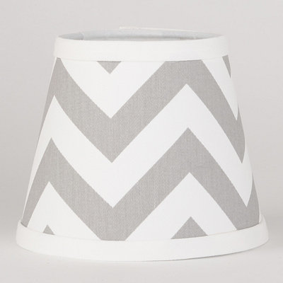 Gray and White Chevron Chandelier Shade