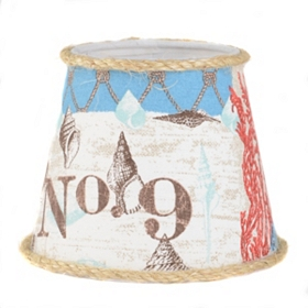 Nautical Patchwork Chandelier Shade