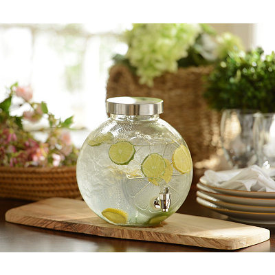 Glass Lemon Beverage Dispenser