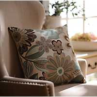 Bayberry Floral Accent Pillow