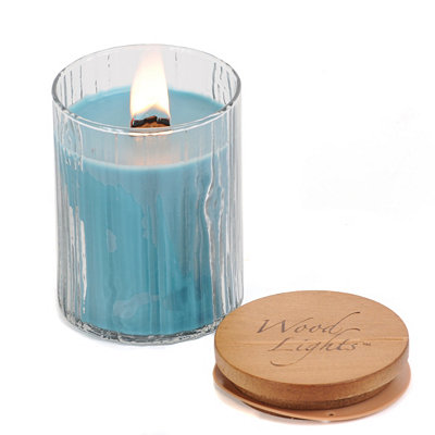 Wooden Wick Coastal Waters Jar Candle