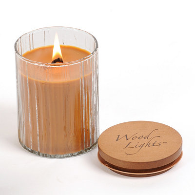 Wooden Wick Sea Salted Caramel Jar Candle