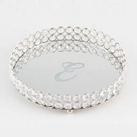 Round Monogram E Marilyn Tray