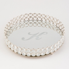 Round Monogram K Marilyn Tray