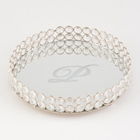Round Monogram P Marilyn Tray