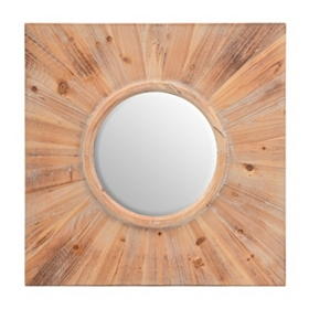 Natural Wood Decorative Mirror