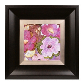 Radiant Purple Flowers I Framed Art Print