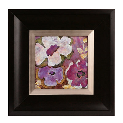 Radiant Purple Flowers II Framed Art Print