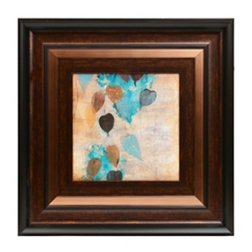 Teal Leaves II Framed Art Print