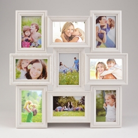 Ivory 9-Opening Collage Frame