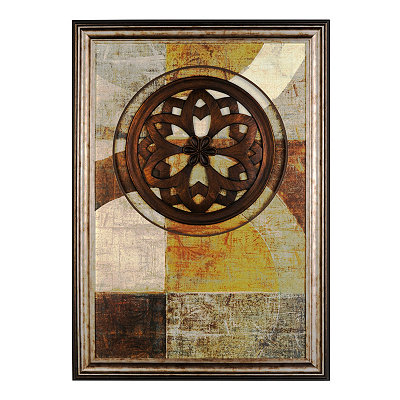 Bronze Floral Medallion Shadowbox