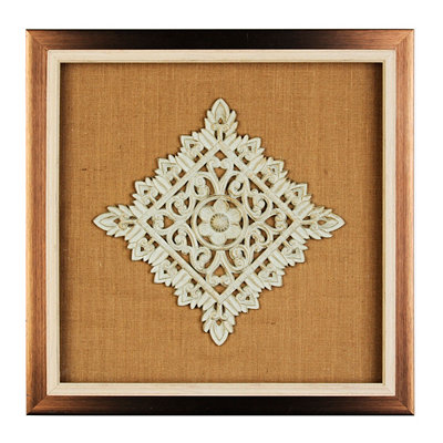 Burlap Medallion Shadowbox