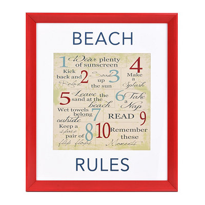 Beach Rules Wall Plaque