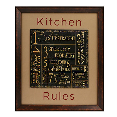 Kitchen Rules Framed Plaque