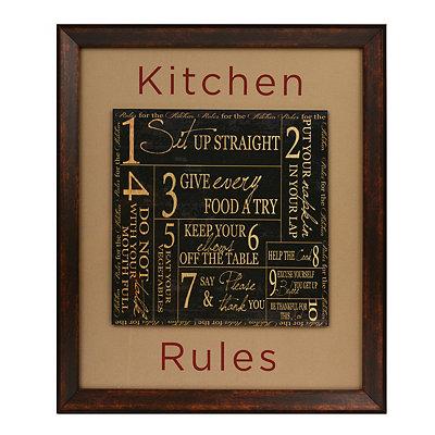 Kitchen Rules Framed Plaque