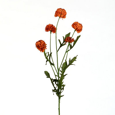 Mini Burnt Orange Mum Stem