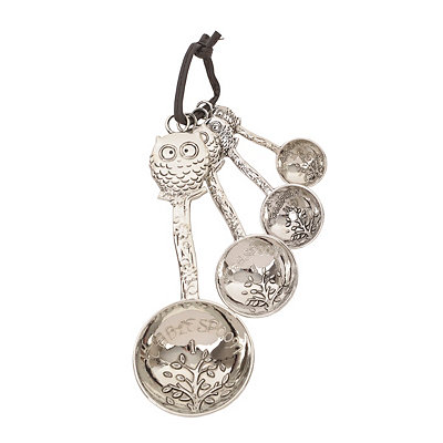 Silver Owl Measuring Spoon Set