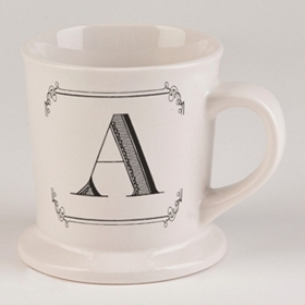 Black & White Monogram A Mug