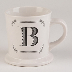 Black & White Monogram B Mug