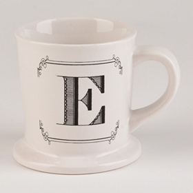 Black & White Monogram E Mug