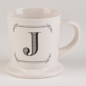 Black & White Monogram J Mug